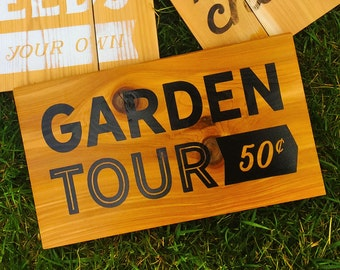 Outdoor painted wooden sign, garden decor, exterior wooden sign, gifts for gardeners, yard art, gifts for mom, gifts for grandma