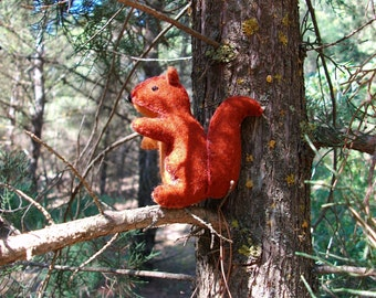 Wool felt squirrel