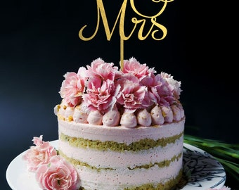 Mr and Mrs Cake Topper - Wedding Cake Topper R045
