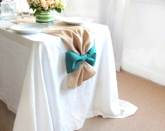 Burlap Table Runner, Burlap Wedding Runners, Burlap Runners, Teal table runner, teal wedding decor