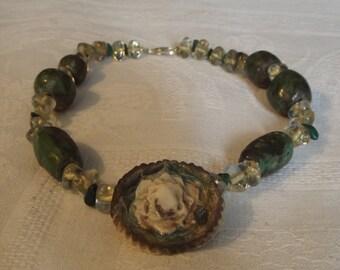ceramic collar and glass