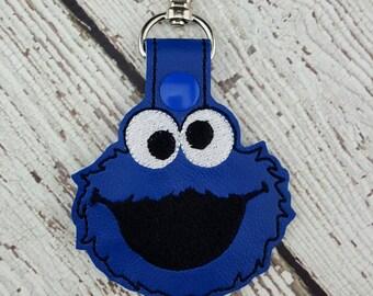 Blue Monster Keychain/Zipper Pull
