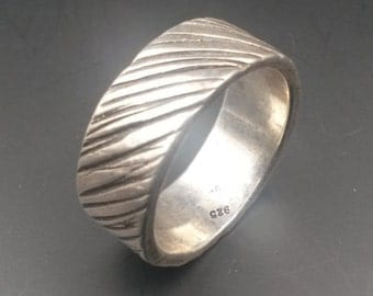 Sterling Silver Textured Band