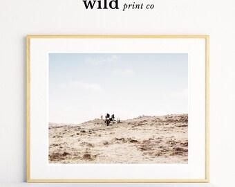 Wild Horse Landscape Print, Horse Print, Wild Horses, Horse Photography, Wild West Print, Modern Minimal, Wilderness Print, Wall Art