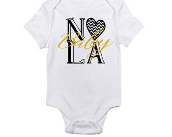 NOLA Baby Bodysuit-NOLA-New Orleans Baby-Louisiana Baby-Newborn-Baby Girl-Baby Boy-Shower Gift-Shower Present-Gift-Godparent Baby Gift-