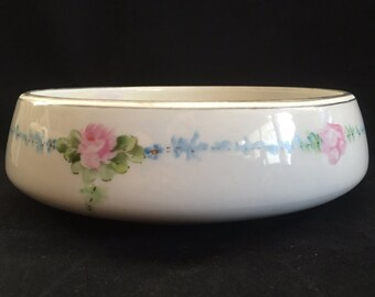 Vintage Royal Rochester hand painted serving dish, heat proof china, vintage bowl, china bowl, lustre bowl