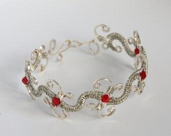 Silver Wire Filigree Bracelet Wire Jewelry Statement Jewelry Coiled wire jewelry