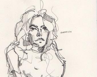 Original pen sketch 10
