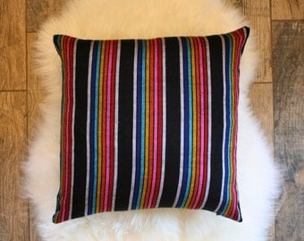 Stripe + Denim Pillow Cover