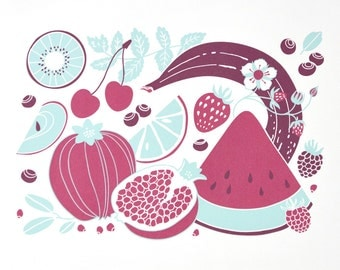 Fruits Print (large, DIN A3)