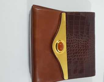 Joseph B Vintage Cognac Leather Bag