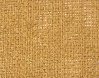 """8oz Gold Burlap by the Yard - 46"""" Wide, 100% Jute"""