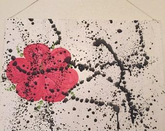 Splattered Hibiscus