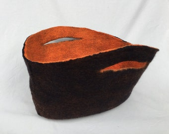 Felt Basket Bag