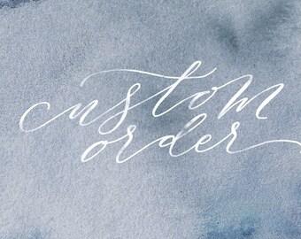 Custom Invitation Design - Listing for Emily
