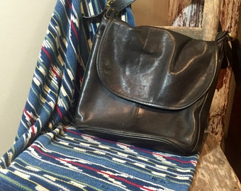 Vintage Coach Black Leather