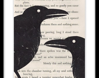 Vintage Edgar Allan Poe Poetry Book Art Print