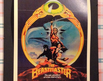 The Beastmaster Movie Poster 12x18' Reproduction // Fantasy // Action // Adventure