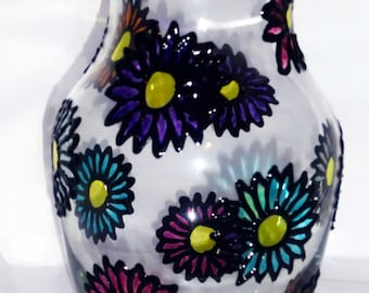 Glass Daisy Vase