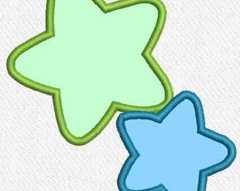 Stars applique 3 sizes