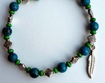 Jade Feather Bracelet
