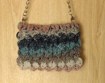 "crochet bag ""Crocodile's Heart (glam color)"""