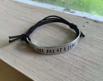 One Day at a Time Bracelet - Silver - One Day at a Time