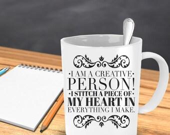 I am a creative person coffee mug - funny coffee mugs