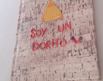 """Eat Your kimchi quote """"SOY UN DORITO"""" Notebook - Size A5 (5,83 x 8,27 inches // 14,5 x 21 cm)"""