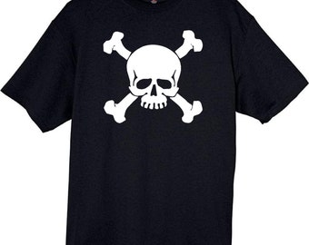 Skull and Crossbone T-Shirt Free Ship
