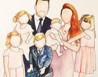 Faceless Family portraits