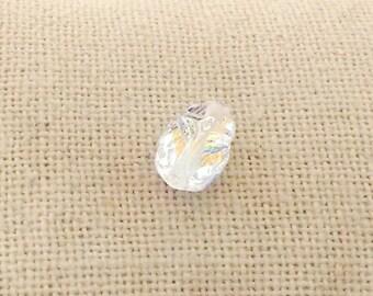 12mm Scarab Bead, Swarovski Crystal Bead, Crystal AB, Faceted Scarab, Beetle Bead, Bugle Bead, Spacer Beads, Crystal Clear Bead, YC7769A