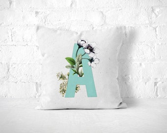 Letter A Pillow, Monogram Pillow, Personalized Pillow, Monogrammed Pillow, Initial Pillow, Cushion, Nursery Throw Pillow, Gift For Her