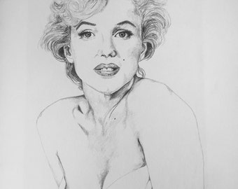 Custom bespoke sketch - Marilyn Monroe example