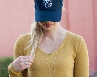 Monogrammed hats, womens wool blend baseball cap, personalized baseball cap, monogrammed gifts, personalized womens hat