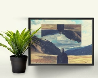 Self-reflection - A4 Graphic Print. A Perfect Gift for the Home. Photographic Art Design.