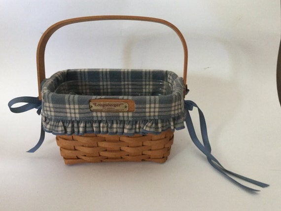 Handmade Small Baskets : Longaberger handmade small basket with liner dresden ohio