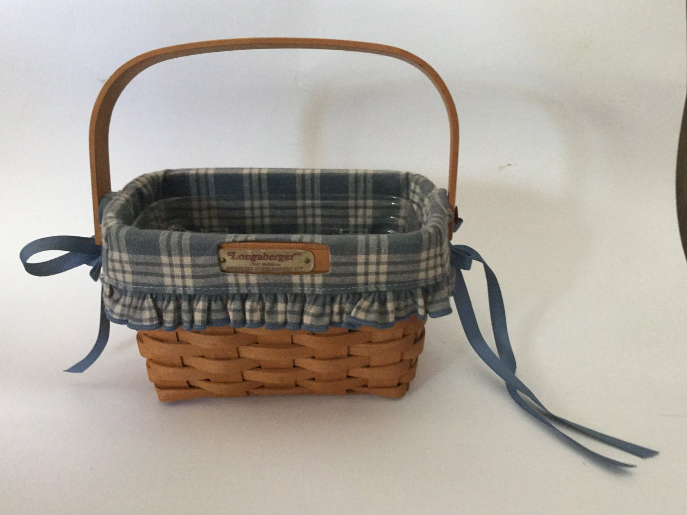 Handmade Baskets From Ohio : Longaberger handmade small basket with liner dresden ohio