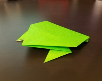 Hopping Green Frog