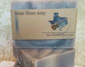 Texas Blues Soap, Handcrafted Soap, Bar Soap, Men's Soap
