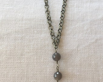 Gorgeous Vintage Shield Drop Necklace