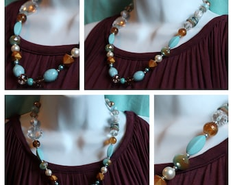 The Brave Brown & Blue Necklace