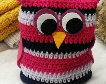 Little Owl Doorstop Pink