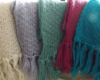 Mohair Scarves - Wide Range of Colours Availble