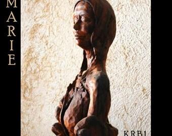 Sculpture pregnant Virgin