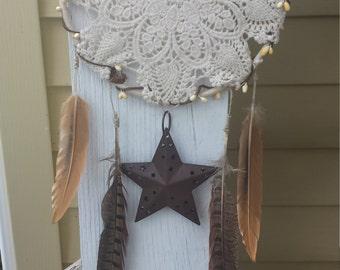 Rustic Lace Dreamcatcher