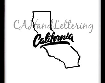 Instant Download / Hand Lettering / CA / California / Original Design