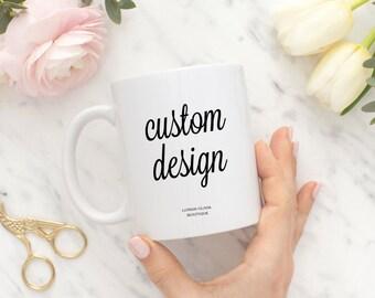 Custom wedding mug - Custom Bridal Shower Gift - Personalized Wedding Gift