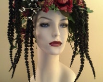 """Unique home table top decor, mannequin bust with flowers - """"Veronica"""""""