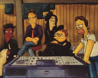 The Simpsons Be Sharps Painting